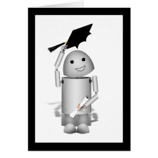 Lil' Robox9 Graduate - Caps Off! Greeting Card