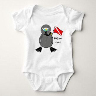 Lil Scuba Dude Future Diver Tee Shirts
