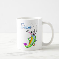 lil shrimp coffee mug