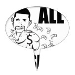 LiL SiCC iM ALL SMiLEZ MF Oval Cake Toppers