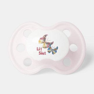 """""""Li'l Sis"""" Iridescent Butterflies #3 Pacifier"""