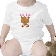 Lil Sis Teddy Bear Baby Bodysuit