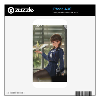 Lil Sis Waits For Your From Work iPhone 4S Decal