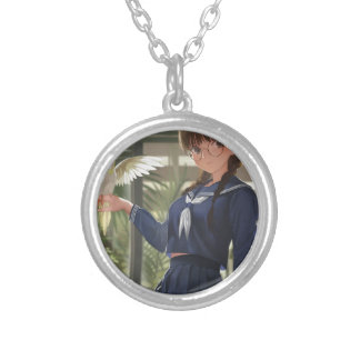 Lil Sis Waits For Your From Work Silver Plated Necklace