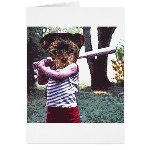 Lil slugger greeting card