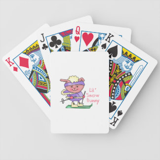 LIL SNOW BUNNY BICYCLE PLAYING CARDS