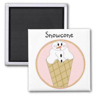 Lil Snowcone Imán Cuadrado