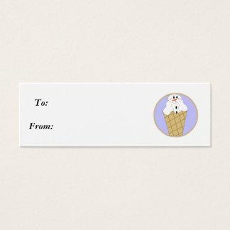 Lil Snowman Snowcone - Gifttag Mini Business Card