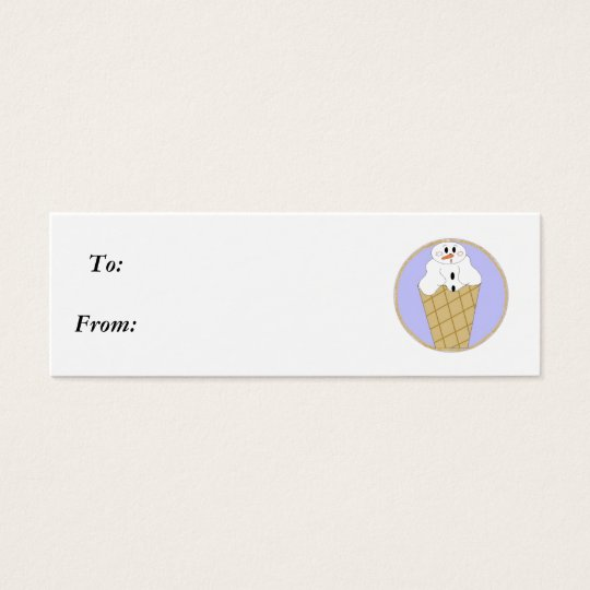 Lil Snowman Snowcone - Gifttag Mini Business Card
