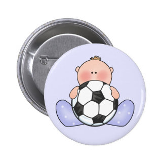 Lil Soccer Baby Boy Pinback Buttons