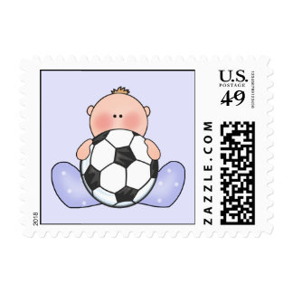 Lil Soccer Baby Boy Stamps