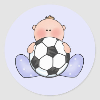 Lil Soccer Baby Boy Stickers