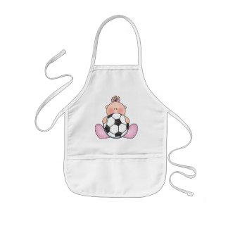 Lil Soccer Baby Girl Kids' Apron