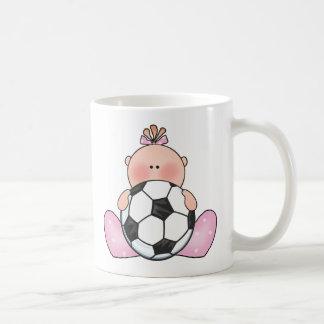 Lil Soccer Baby Girl Coffee Mug