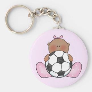 Lil Soccer Baby Girl - Ethnic Keychain