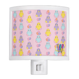 Lil Spring Chick Pattern Nite Lites at Zazzle