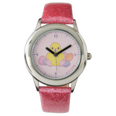Lil Spring Chick Pattern Wrist Watch at Zazzle