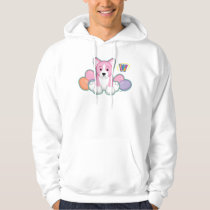 Lil Spring Corgi Pattern Hoodie