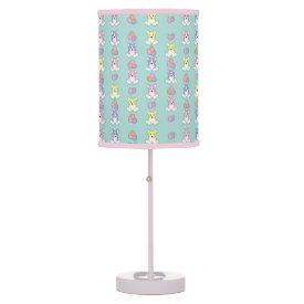 Lil Spring Corgi Pattern Table Lamp at Zazzle