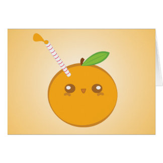 Lil' Squirt Cute Baby Orange Note Card