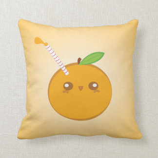 Lil' Squirt Cute Baby Orange Pillow