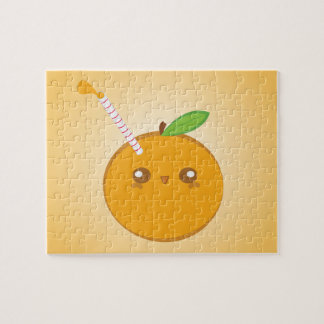 Lil' Squirt Cute Baby Orange Puzzle
