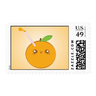 Lil' Squirt Cute Baby Orange Stamps