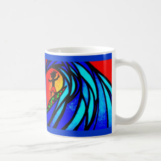 Lil Surfer Dude at Pipeline Classic White Coffee Mug