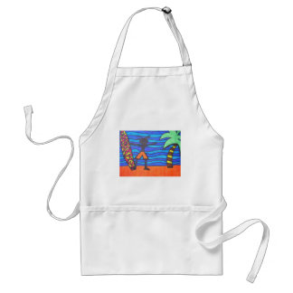 Lil Surfer Dude Hanging Out Aprons