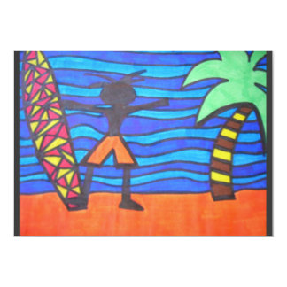 Lil Surfer Dude Hanging Out Card