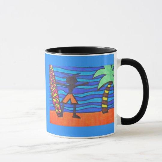 Lil Surfer Dude Hanging Out Mug