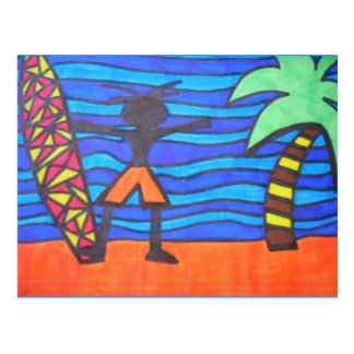 Lil Surfer Dude Hanging Out Postcard
