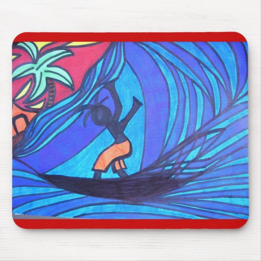 Lil' Surfer Dude Mouse Pad