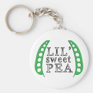 Lil Sweet Pea Basic Round Button Keychain
