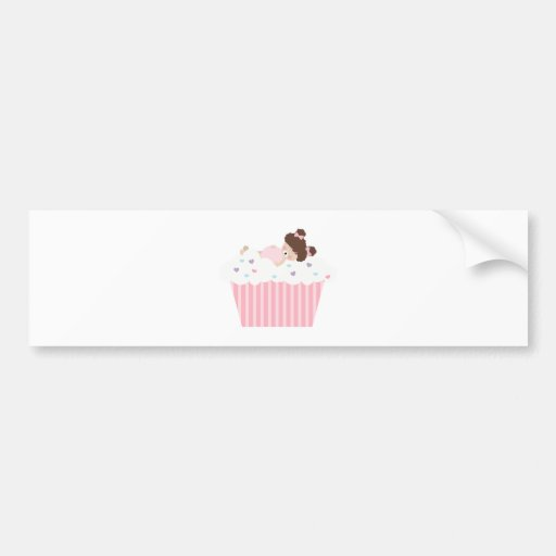 lil sweetie tooth all full cupcake dreams bumper sticker