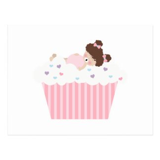 lil sweetie tooth all full cupcake dreams postcard