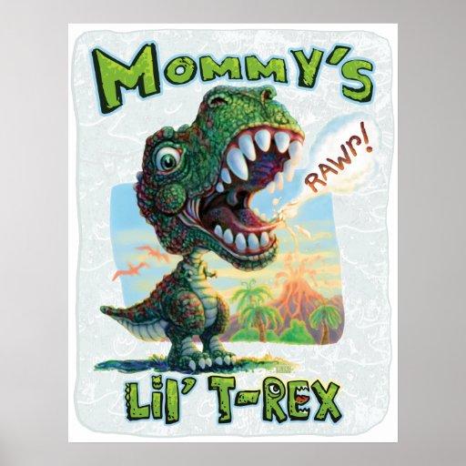 Lil T Rex de la mamá Póster