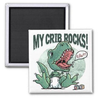 Lil' T Rex My Crib Rocks Magnet