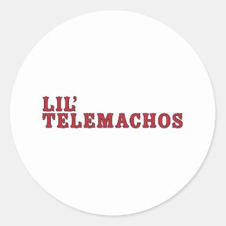Lil Telemachos Etiquetas Redondas