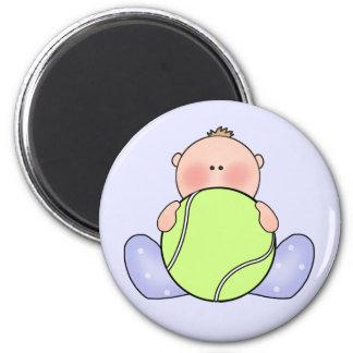 Lil Tennis Baby Boy 2 Inch Round Magnet