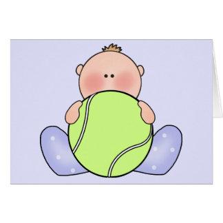 Lil Tennis Baby Boy Card