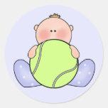 Lil Tennis Baby Boy Classic Round Sticker