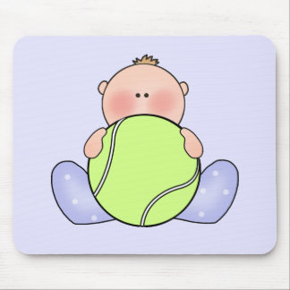 Lil Tennis Baby Boy Mouse Pads