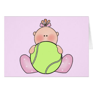 Lil Tennis Baby Girl Card