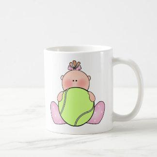 Lil Tennis Baby Girl Classic White Coffee Mug