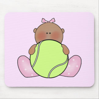 Lil Tennis Baby Girl - Ethnic Mouse Pad