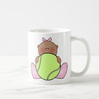 Lil Tennis Baby Girl - Ethnic Classic White Coffee Mug