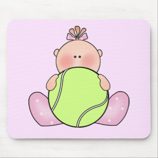 Lil Tennis Baby Girl Mouse Pad