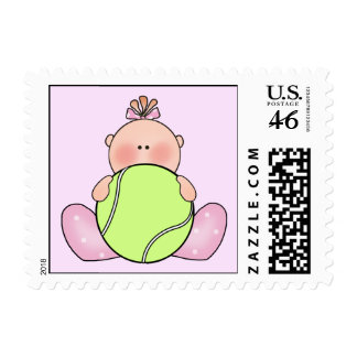 Lil Tennis Baby Girl Stamps