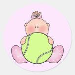 Lil Tennis Baby Girl Sticker